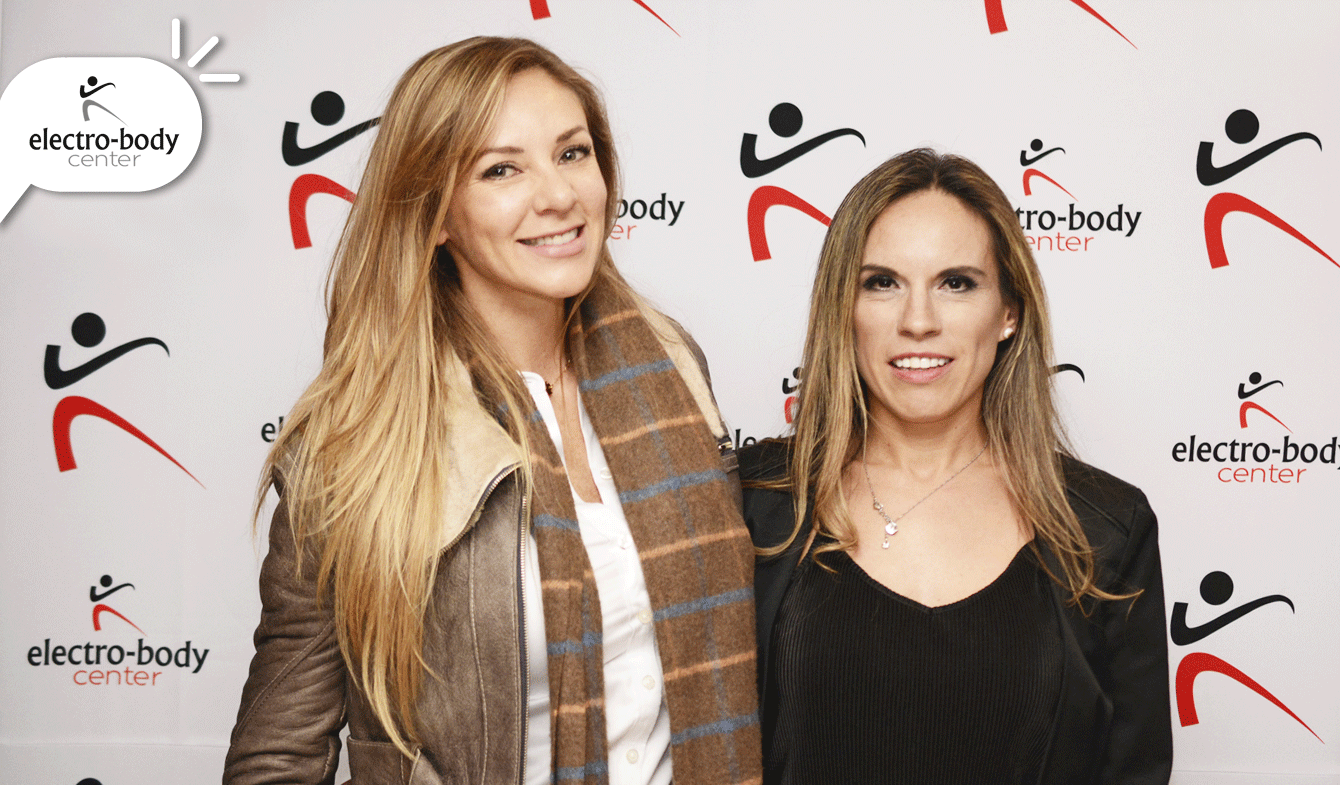 Janine Leal y Natalia Durán, representante de Electro-body Center en Chile